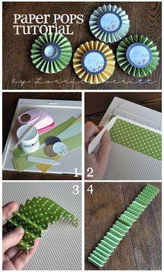 DIY Paper Pops Tutorial (5x30cm)