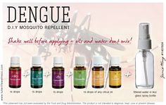 Combat dengue effectively without using toxic repellent... and smell good while you're at it! #essentialoils #youngliving