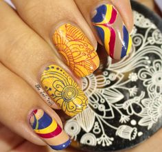 Musings of the Wife of a Jedi: Stamping with Born Pretty Store and a Water Marble