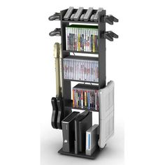 Nice it holds the accessories, but that would NOT come CLOSE to fitting all our games!