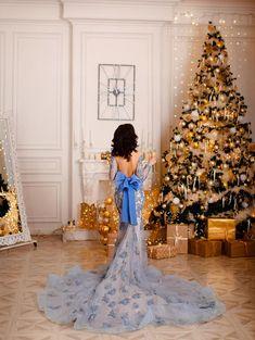 IG: @dress.empire Blue Mermaid Dress, Empire, Photoshoot, Holiday Decor, Wedding Dresses, Inspiration, Christmas, Fashion, Noel