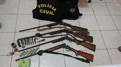 Em Colniza/MT Polícia Civil Prende 02 por Posse irregular de arma de fogo e um por porte ilegal de arma.