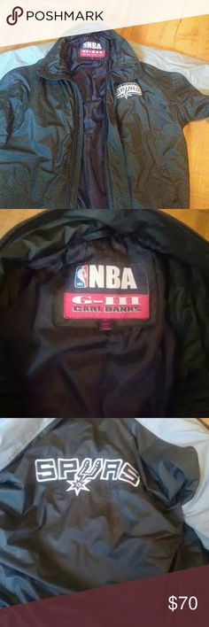 Spurs carl banks wind breaker Its 4 days old its a carl banks windbreaker worth 100.00 but selling for 70.00 carl banks  Jackets & Coats