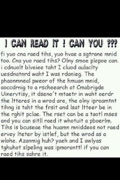 I could read it! Repin if you can read this