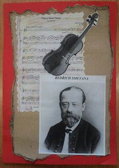 """Pardubický kraj - Bedřich Smetana (""""propagační"""" koláž) Main Theme, Kindergarten, Baseball Cards, Retro, Cover, Books, Historia, Projects, Kinder Garden"""
