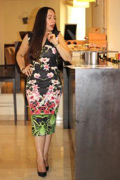 A city doll's closet - A city doll's closet Jalita midi dress.  #jalita #tedbaker #mididress #floral #acitydollscloset #fashion #style