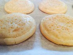 Paleo Crumpets--coconut flour version, still takes time.....