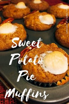 Everything you love about sweet potato pie in one yummy healthy little muffin #MeatlessMonday