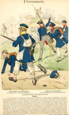 Prussiens Landwehr-Infanterie 1813 Sous-officier de l'infanterie Landwehr Schlesischen Officier Landwehr-Infanterie