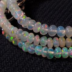 32 cts 17 4 mm Natural Real Ethiopian Fire Opal Gemstones Beads Necklace   eBay