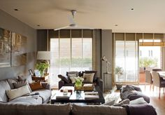 Now that temperatures start to rise more and more, do not lose sight of these ideas to install the best ceiling fan in your home. Interior Architecture, Interior And Exterior, Interior Design, Best Ceiling Fans, Living Room Colors, Cool Diy Projects, Home Furnishings, Beautiful Homes, Sweet Home