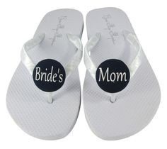 6f0f7be83 Custom made wedding flip flop sandals for the Mother of the Bride to dance  the night