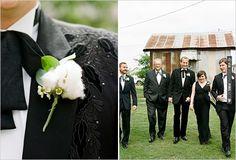 cotton boutonniere | CHECK OUT MORE IDEAS AT WEDDINGPINS.NET | #bridesmaids