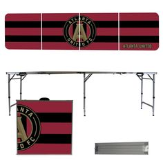 A lightweight, portable folding party table great for tailgating, food service or playing party games.