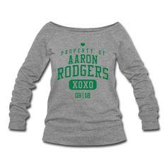 PROPERTY OF Aaron Rodgers (QB #12) XOXO Sweatshirt | Spreadshirt | ID: 11226585
