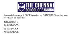 Logical Reasoning Ability(coding and decoding) #thechennaischoolofbanking
