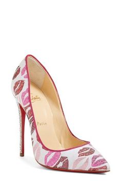 Christian Louboutin | 'Cosmopump' Print Pointy Toe Pump available at #Nordstrom