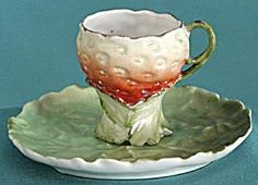 Vintage Royal Bayreuth Strawberry Cup & Saucer. Click the image for more information.