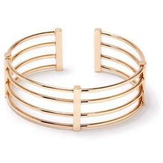 ShoeDazzle Bracelets No Holds Barred Bracelet Womens Gold ❤ liked on Polyvore featuring jewelry, bracelets, gold, gold cuff jewelry, gold cuff bangle, yellow gold bangle, gold bangles and gold jewellery