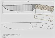 facón chico: Moldes de Cuchillos Knife Drawing, Knife Template, Diy Knife, Knife Patterns, Blacksmith Forge, Handmade Knives, Knives And Swords, Bushcraft, Blacksmithing