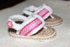 Baby flip flops #twogirlspatterns