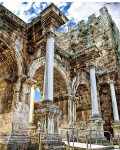Insider travel tips on the best things to see and do in Antalya Turkey. Places To Travel, Places To See, Capadocia, Beau Site, Turkey Holidays, Turkey Travel, Ancient Architecture, Turkish Architecture, Ancient Ruins