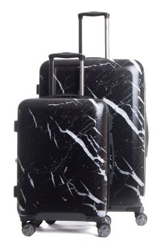 Free shipping and returns on CALPAK Astyll 30 Inch Spinner & 22 Inch Spinner Luggage Set at Nordstrom.com. A lightweight hard shell provides durable, easy-to-carry utility in this sleek suitcase fitted with a set of four multidirectional spinner wheels for effortless airport navigation. The patent-pending marble finish allows for easy identification at baggage claim. The zippered divider creates two separate packing compartments, and an expansion sleeve unzips to increase the packing…