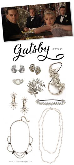 Inspired By: Gatsby Style...diamonds are a girls best friend!