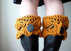 Boot Cuffs CROCHET PATTERN winter legwarmers boot cuff for her. $5.00, via Etsy.