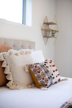 Make your bedding design a little more dynamic by selecting a pattern as its focal point. #masterbedroom #master #ngarotoplan #showhome #hamiltonshowhome #rotorunavillage #interiordesign #generationhomesnz Bedroom House Plans, Home Bedroom, Master Bedroom, Bedrooms, Bed Design, Bedding, Throw Pillows, How To Plan, Interior Design