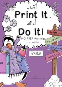 Winter Just Print It and Do It ~ Freebie 12 pg