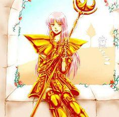 Anime Art, Anime Girlxgirl, Fan Art, Princess Zelda, Fictional Characters, Gold, Saint Seiya, Comics Girls, Anime Characters