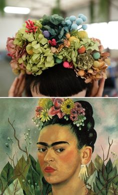 diy instruction for a Frida Kahlo inspired piece such as this can be found easily online.