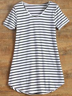 $8.45 Stripes Tunic T-Shirt - STRIPE S