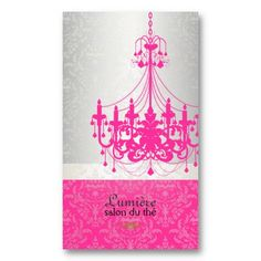 21 best hot pink business cards images on pinterest business card pixdezines hot pink chandelierdiy color business card colourmoves
