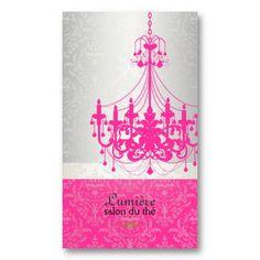PixDezines hot pink chandelier/DIY color Business Card Template