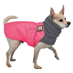 Chihuahua Winter Dog Coat ~ Outer shell of Ultrex fabric means waterproof, windproof protection ~ Lined in Polaratec® polar fleece keeps your dog warm in winter ~ Unique polar fleece hood provides extra protection | Voyagers K9 Apparel