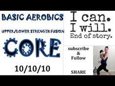 Beginner Low Impact Cardio Workout: 10/10/10/ **Floor Aerobics **UPPER& LOWER Toning**Core** - YouTube