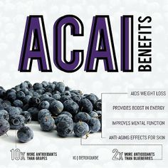 Some reasons to get drinking our Açai Tea!