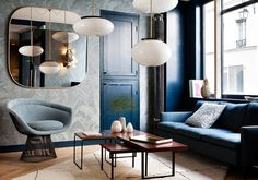 Hotel Henriette, Paris Pops with rich colour palette and visual interest