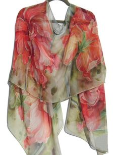 DOUBLE HIBISCUS Silk Wrap by SilkSiren on Etsy, $300.00