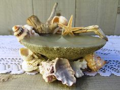Beach Candles Shells Driftwood Sand by QuailHollowCreations, $18.00