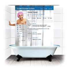 Funny pictures about Social shower curtain. Oh, and cool pics about Social shower curtain. Also, Social shower curtain photos. Ikea Shop, Home Deco, Cortina Box, Media Shower, Profil Facebook, Facebook Profile, Facebook Style, Funny Facebook, Fb Profile