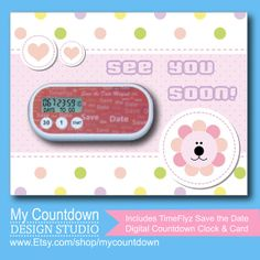 My Babys Due Date Countdown Timer & Card