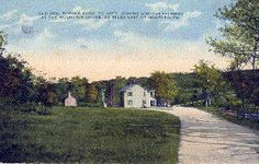 Old Gen. Forbes Road to Left joining Lincoln Highway at the Mountain House 22 miles east of Bedford, PA.