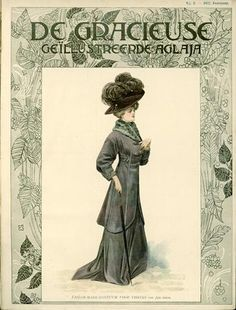 De Gracieuse, February 1908, Edwardian Fashion Plate
