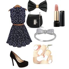 I Love It by penguins-lily on Polyvore featuring polyvore fashion style Jessica Simpson Chloé H&M Lancôme