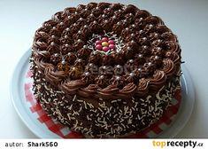 Dort s pařížským krémem a broskvovým džemem recept - TopRecepty.cz Chocolate Covered Oreos, Chocolate Cake, Chocolate Icing Recipes, Birthday Cake, Food, Birthday Cakes, Food Cakes, Chicolate Cake, Chocolate Cobbler