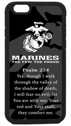 Usmc Marines Marine Prayer Psalm Case Rubber/Hard Cover For Iphone 6/6S 6S Plus