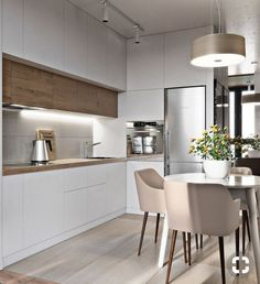 31 Modern Kitchen Concepts Every House Prepare Needs to See Küche Kitchen Room Design, Luxury Kitchen Design, Contemporary Kitchen Design, Luxury Kitchens, Living Room Kitchen, Home Decor Kitchen, Rustic Kitchen, Interior Design Kitchen, Home Kitchens